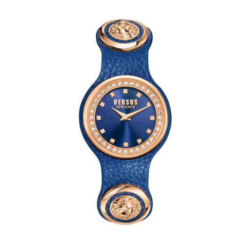 Versus-Versace Women's Carnaby Street Crystal Blue Dial Watch