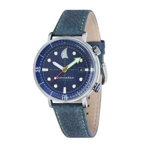 Spinnaker Tavolara Automatic Blue Dial Leather Strap and Nato Strap Men's Watch