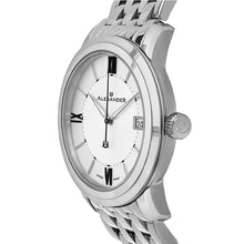 Load image into Gallery viewer, Alexander Mens Quartz Watch with Stainless Steel Case on Stainless Steel Bracelet, Silver Dial