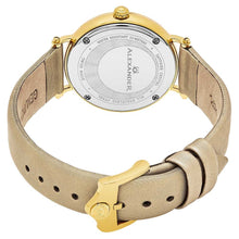 Load image into Gallery viewer, Alexander Roxana Swiss Quartz White Mother of Pearl Dial Gold Tone Case Women's Watch