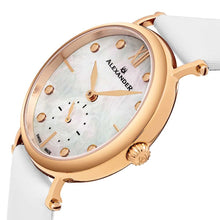 Load image into Gallery viewer, Alexander Roxana Swiss Quartz White Mother of Pearl Dial Rose Gold Tone Case Women's Watch