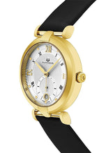 Load image into Gallery viewer, Alexander Olympias Swiss Quartz Yellow Gold Tone Stainless Steel Case Black Satin Strap Women's Watch