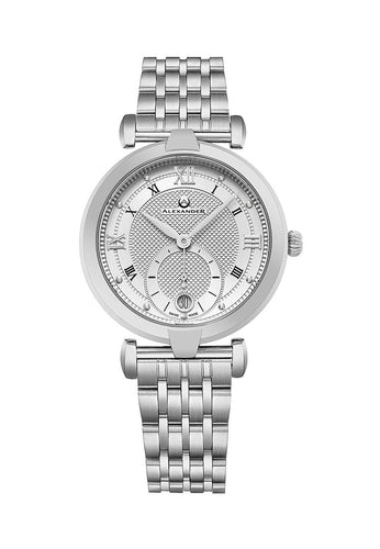 Alexander Olympias Swiss Quartz Stainless Steel Case Stainless Steel Bracelet Women's Watch