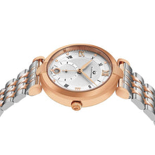 Load image into Gallery viewer, Alexander Ladies Quartz Small-second Date Watch with Rose Gold Tone Stainless Steel Case on Rose Gold Tone Stainless Steel and Stainless Steel Bracelet, Silver Dial