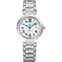 Load image into Gallery viewer, Alexander Ladies Quartz Small-second Date Watch with Stainless Steel Case on Stainless Steel Bracelet, Silver Dial