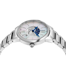 Load image into Gallery viewer, Alexander Ladies Quartz Moonphase Date Watch with Stainless Steel Case on Stainless Steel Bracelet, Silver Dial