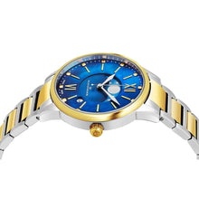 Load image into Gallery viewer, Alexander Ladies Quartz Moonphase Date Watch with Yellow Gold Tone Stainless Steel Case on Yellow Gold Tone Stainless Steel and Stainless Steel Bracelet, Blue Dial