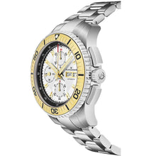 Load image into Gallery viewer, Alexander Mens Automatic Chronograph Watch with Stainless Steel and Yellow Gold PVD Case on Stainless Steel Bracelet, White Dial