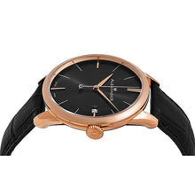 Load image into Gallery viewer, Alexander Sophisticate Swiss Quartz Rose Tone Case Leather Strap Men's Watch