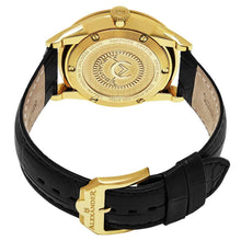 Load image into Gallery viewer, Alexander Sophisticate Swiss Quartz Gold Tone Case Leather Strap Men's Watch