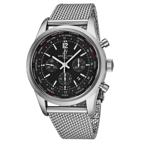 Breitling Men's TransOcean Black Dial Unitime Chronograph Swiss Automatic Watch