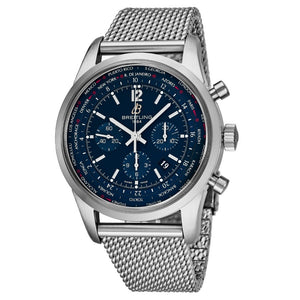 Breitling Men's TransOcean Blue Dial Unitime Chronograph Swiss Automatic Watch