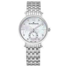 Load image into Gallery viewer, Alexander Roxana Diamond White Mother of Pearl Dial Silver Tone Women's Watch