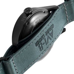 AVI-8 Hawker Hurricane Black Tone Green Dial Genuine Leather Nato Strap Men's Watch