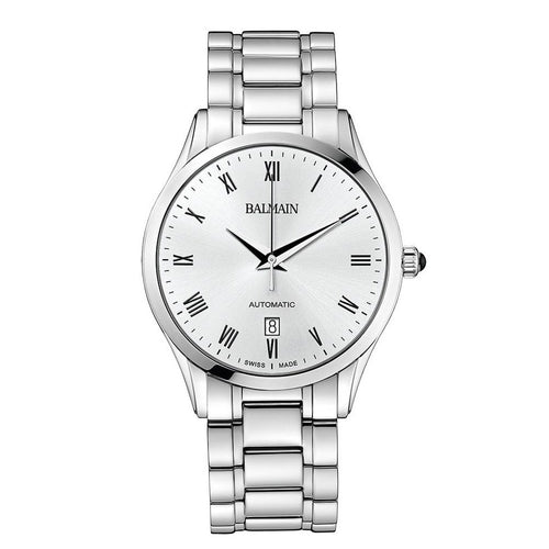 Balmain Men's Classic R Grande White Dial Stainless Steel Automatic Watch
