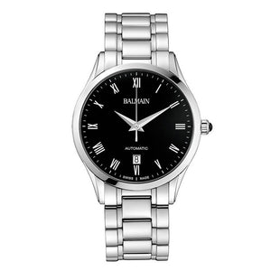 Balmain Men's Classic R Grande Black Dial Stainless Steel Automatic Watch