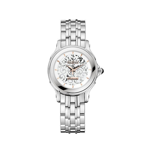 Balmain Women's Eria Round Arabesque Dial Stainless Steel Automatic Watch