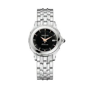 Balmain Women's Eria Round Black Dial Stainless Steel Automatic Watch