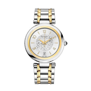 Balmain Women's Excessive Lady Round Arabesque Dial Dual Tone Stainless Steel Quartz Watch