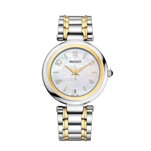Balmain Women's Excessive Lady Round Mother-of-Pearl Dial Dual Tone Stainless Steel Quartz Watch