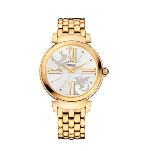 Balmain Women's Beleganza Lady Arabesque Dial Gold Stainless Steel Quartz Watch