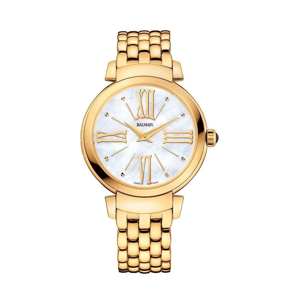 Balmain Women's Beleganza Lady Mother-of-Pearl Dial Gold Stainless Steel Quartz Watch