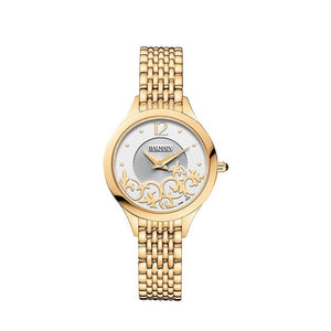 Balmain Women's Balmain De Balmain II Mini Arabseque Dial Gold Stainless Steel Quartz Watch