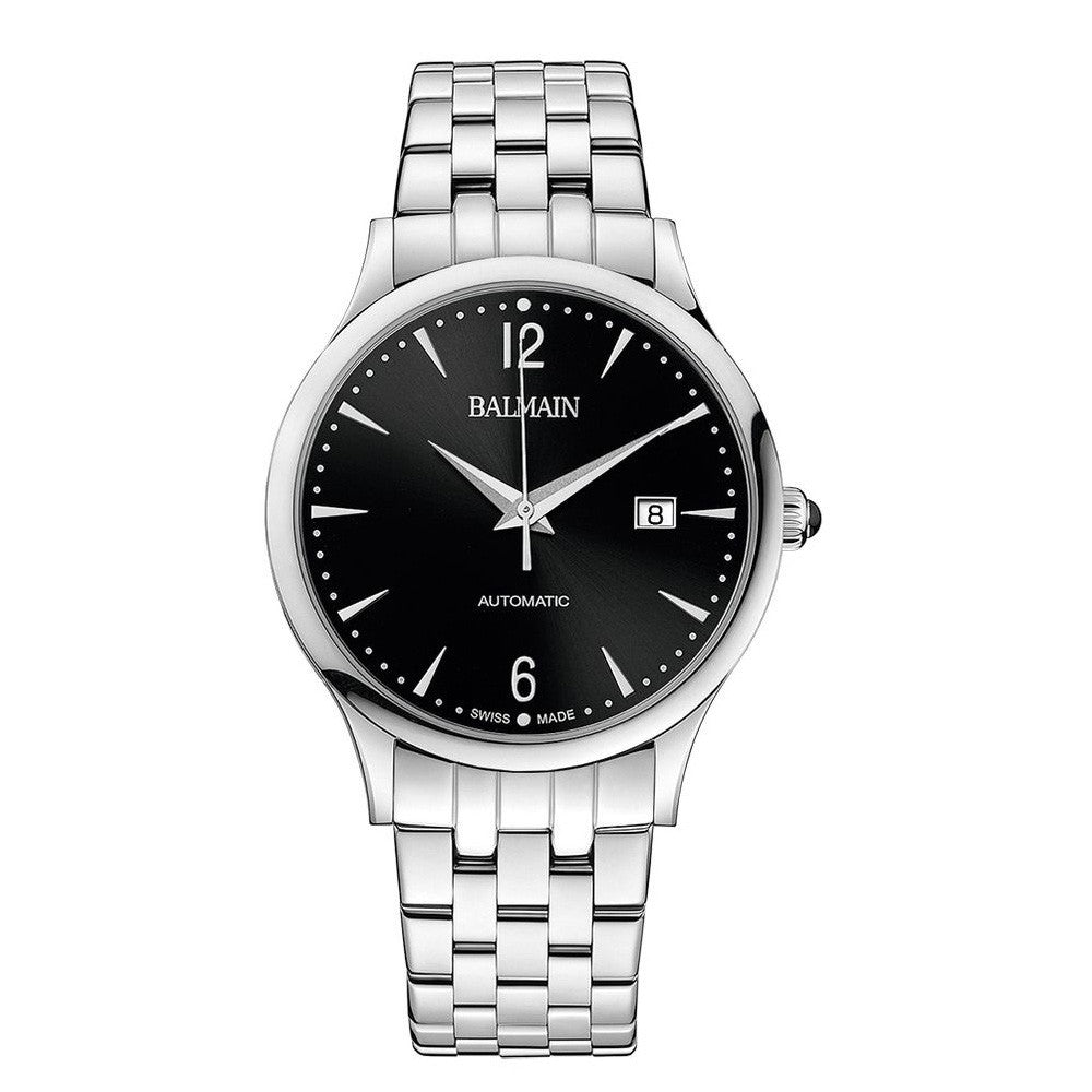 Balmain Men's Classic R Gent Silver Dial Stainless Steel Automatic Watch