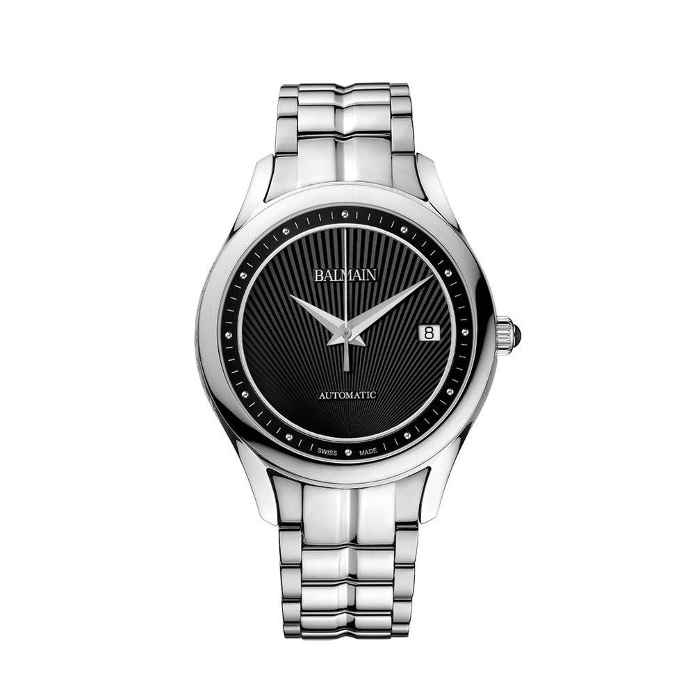 Balmain Women's Balmain Maestria Gent Round Black Dial Stainless Steel Automatic Watch
