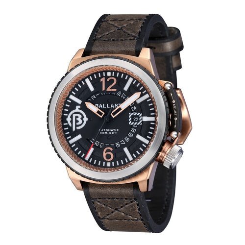 Ballast Trafalgar Automatic Rose Case Black Dial Men's Watch