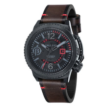 Load image into Gallery viewer, Ballast Trafalgar Automatic Black Dial Red Stitching Men's Watch