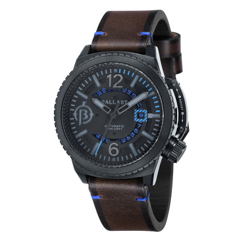 Ballast Trafalgar Automatic Black Dial Blue Stitching Men's Watch
