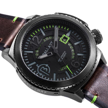 Load image into Gallery viewer, Ballast Trafalgar Automatic Black Dial Green Stitching Men's Watch