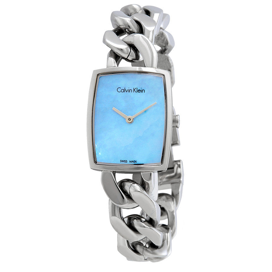 Calvin-Klein Amaze Blue Mother of Pearl Dial Ladies Watch