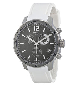 Tissot Quickster Grey Dial White Silicone Men's Watch