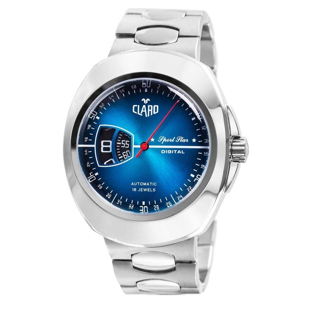 Claro Men's Sports Star Blue Dial Automatic Watch