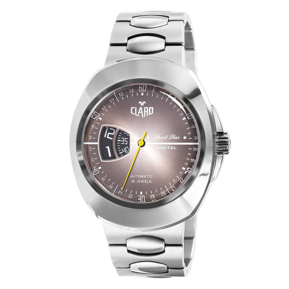 Claro Men's Sports Star Grey Dial Automatic Watch