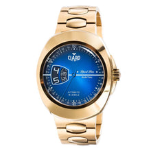 Load image into Gallery viewer, Claro Men's Sports Star Gold Tone Automatic Watch