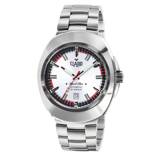 Claro Men's Sports Star Silver Dial Automatic Watch