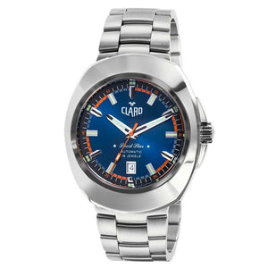 Claro Men's Sports Star Silver Tone Automatic Watch