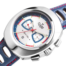 Load image into Gallery viewer, Claro Men's Sports Star Silver Dial Quartz Chronograph Watch