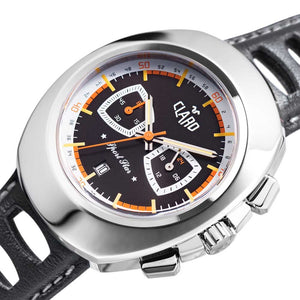 Claro Men's Sports Star Black Dial Quartz Chronograph Watch