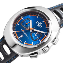 Load image into Gallery viewer, Claro Men's Sports Star Blue Dial Quartz Chronograph Watch