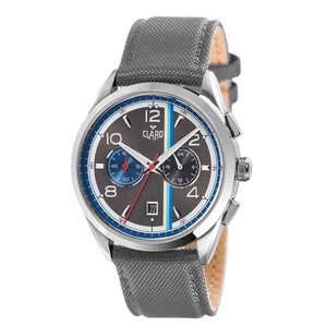 Claro Men's Speed Star Grey Quartz Chronograph