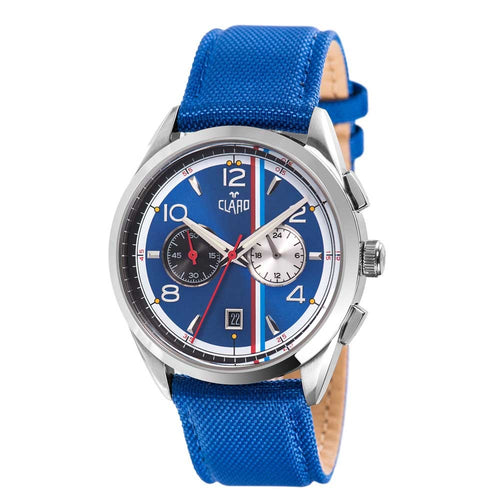 Claro Men's Speed Star Blue Quartz Chronograph