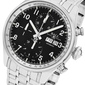 Ball Men's Trainmaster Pulsemeter II Black Dial Chronograph Swiss Automatic Watch
