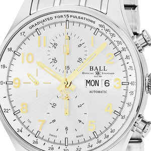 Ball Men's Trainmaster Pulsemeter II Silver Dial Chronograph Swiss Automatic Watch