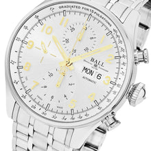 Load image into Gallery viewer, Ball Men's Trainmaster Pulsemeter II Silver Dial Chronograph Swiss Automatic Watch