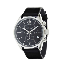 Load image into Gallery viewer, Calvin-Klein Men's Masculine Black Dial Chronograph Watch