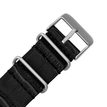 Load image into Gallery viewer, James-McCabe London Slim Swiss Quartz Silver Dial Leather Nato Strap Men's Watch